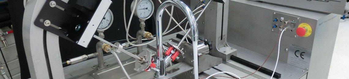 Prufstand Leistung Thermostatmischer test