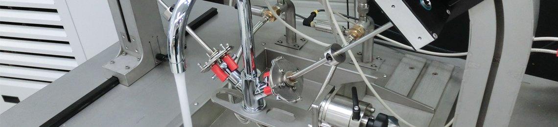 Test Stand Leistung mechanisch Mischbatterie